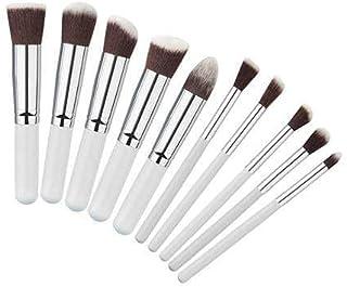 TYA GIRL Makeup Brushes Mini 10 Pieces Set (White)