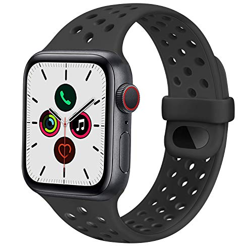 DSZQ Cinturino Compatibile con Apple Watch 38mm 40mm 42mm 44mm, Cinturini di Ricambioi Sportivo in Silicone per iWatch Series 6 5 4 3 2 1 SE,Super Morbido (42/44MM M/L)