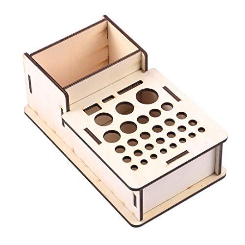 Noblik Holz Aufbewahrungs Box Studio Modellierungs Werkzeuge Pinsel Halter Rack St?Nder Organizer Kunst Lieferungen Zubeh?R