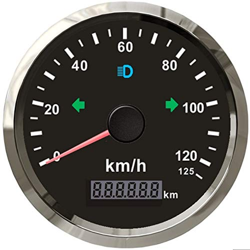 ELING GPS Tacho Kilometerzähler 0-125km/h für Auto LKW Motorrad ATV UTV 85mm