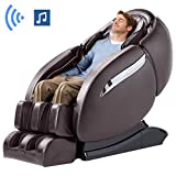 Massage Chair Recliner, Zero Gravity Thai Massage, Full Body Massage Chair with SL Double Track, 3D Robot Hands, Yoga Stretching, Bluetooth Speaker& Air Massage (Brown)