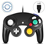 VOYEE PC Gamecube Controller, Wired USB Controller for PC Windows 7 8 10 (Black)