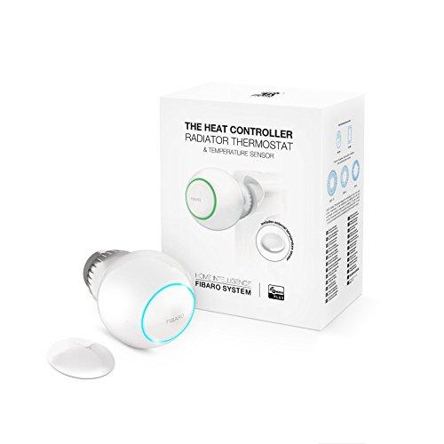 FIBARO The Heat Controller Starter Pack / Z-Wave Plus Heizungsthermostat, Wärmeregler mit Temperaturfühler, FGT-PACK