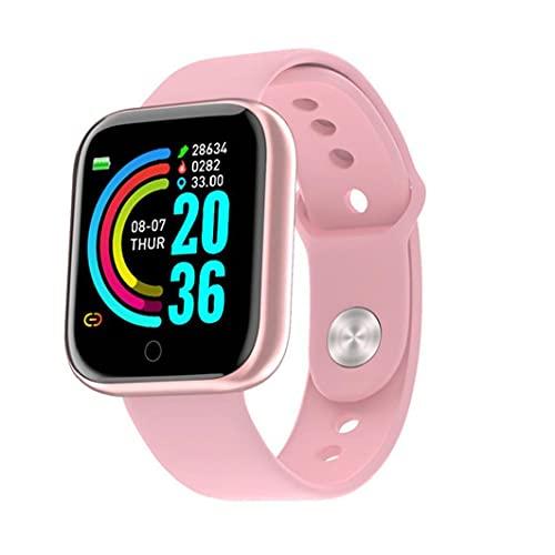 Bao Xiang Pulsera Inteligente Reloj Deportivo Tasa del Corazón Pulsera De La Cámara Y68 Bluetooth Presión Arterial Rastreador De Fitness para Mujeres Hombres Pulsera Rosada Rosa