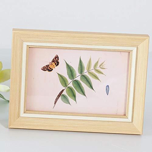 QKEMM Marco para Fotos creativo Recuerdo Marco Simple Teca Tamaño De Foto 20.5×25.5cm