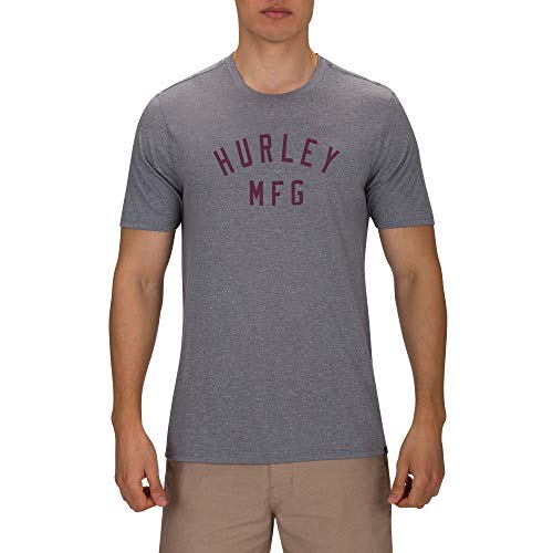 Hurley M Siro Athletico S/Tee-Shirts Homme DK Grey Heather FR: L (Taille Fabricant: L)