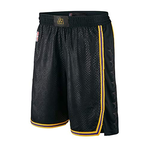 Kobe Herren Basketball Trikot, Lakers # 8 Schwarz Mamba Special Edition Swingman Unisex Basketball Trikot Tank Top Shirt Weste (S-XXL) Shorts-M