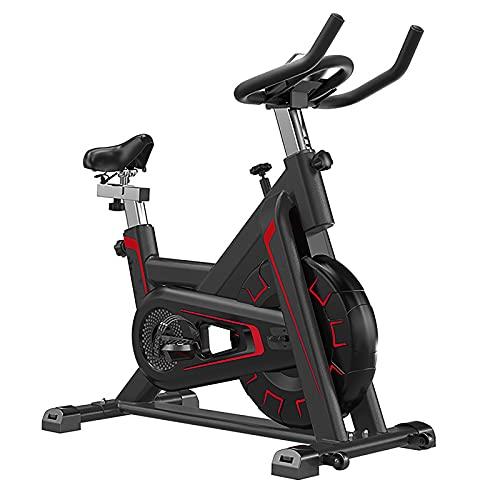 HYRL Bicicleta estática con Monitor LCD, Bicicleta giratoria Ajustable, Segura y silenciosa con Botella de Agua para Ejercicios y Soporte para iPad, Capacidad de Carga máxima de 330 Libras