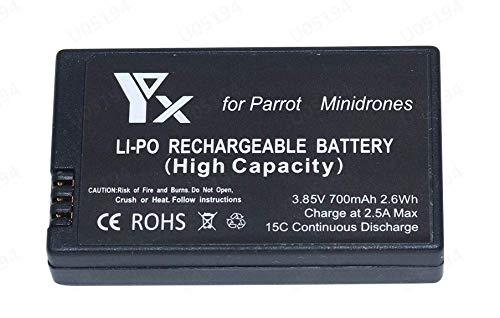 Ruidada 1x 700mAh Batteria per Parrot Mambo Mini Drones Jump Rolling Spider Drone Batteria Batterie