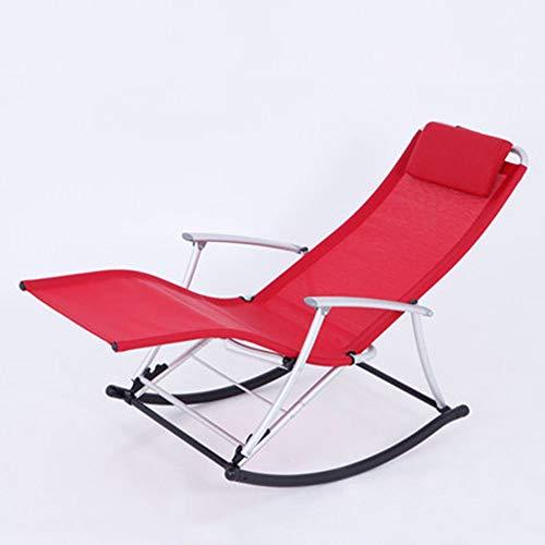 YLCJ schommelstoel Recliner fauteuil Plezier voor volwassenen Balkon Siesta stoel Opvouwbare eetkamerstoel (Kleur: C) D