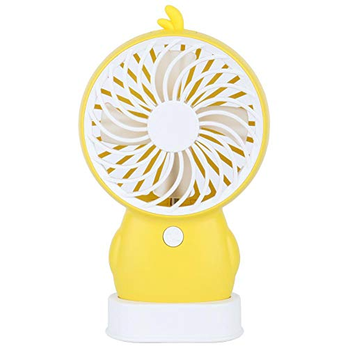 Fdit1 Mini draagbare USB-lader cartoon vorm handheld desktop ventilator twee windsnelheden geel MEHRWEG AANBIEDING yezer-eu