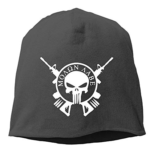 KASHFIHO Molon Labe Punisher Army Outdoor Trendy Skull Cap Beanie Hat