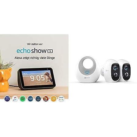 Echo Show 5 Schwarz Ezviz C3a 1080p Überwachungskamera Aussen Wlan Mit Akku Duo Pack Mit W2d Lan Kabellos Wifi 2 4ghz Nachtsicht 2 Wege Audio Sd Kartenslot Pir Bewegungsmelder Alle Produkte