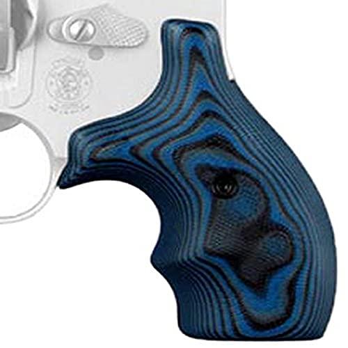 Hogue 61668 S&W J Frame Round Butt Grip, Bantam G-10 G-Mascus Blue Lava