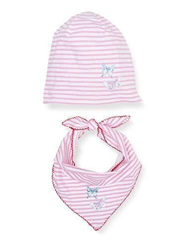 Salt & Pepper Mädchen 03128278 Mütze, Schal & Handschuh-Set, Rosa (Soft Pink 824), 51 (Herstellergröße: 51cm)