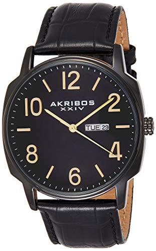 Akribos XXIV AK885BK Set Orologio Da Polso Al Quarzo, Analogico, Uomo, 2 Pezzi
