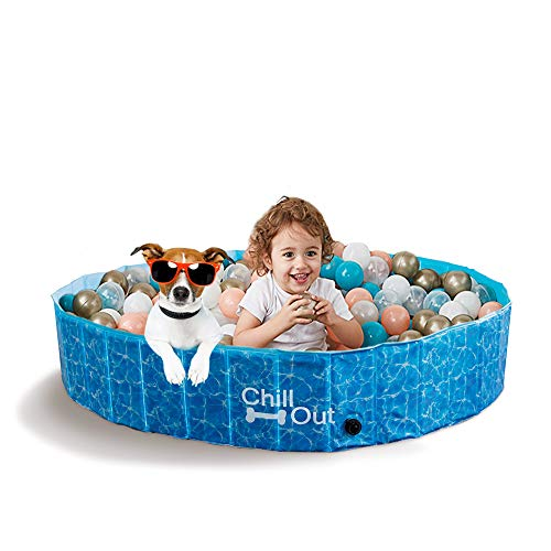 All For Paw - Piscina para perros extragrande (160 x 30 cm),
