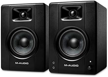 M Audio BX4 120 Watt Powered Desktop Computer Speakers Studio Monitors for Gaming Music Production product image