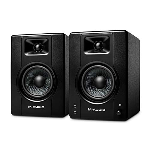 M-Audio BX4 - Aktive 120-Watt Desktop-Computerlautsprecher / Studiomonitore für Gaming, Musikproduktion, Live-Streaming und Podcasting (Paar)