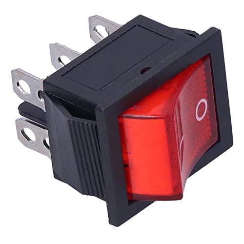 Interruptor de Encendido basculante, Interruptor de Encendido/Apagado de 10 Piezas 250 V Fuerte corrosión para TV para Servicio de electrodomésticos para electricistas