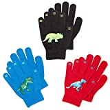 Luther Pike Seattle Kids Gloves For Toddler Boys - Cold Weather Winter (3 Pairs)