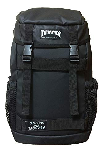 [スラッシャー] THRASHER BOX BACKPACK THRPN-502 WHTMG(白・通常ロゴ)BACKPACK 黒 ブラック メンズ レディース おしゃれ ビジネス ホワイト MAGLOGO 大容量 デイパック 白 マグロゴ thrpn502