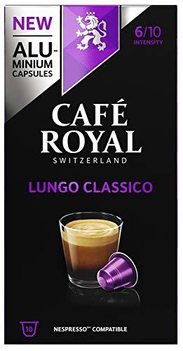 Café Royal Lungo Classico 50 Nespresso®* kompatible Kapseln (aus Aluminium, Intensität 6/10) (5 x 10 Kaffeekapseln)
