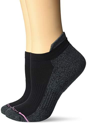 Dr. Motion Women's 2PK Dr. Motion Compression Low Cut Socks Sockshosiery, black Solid, ONE SIZE -  ZL2P3727A-001-OS
