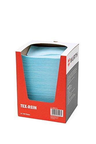 Würth Tex Rein - Paños de limpieza (150 unidades, resistentes a la mojado)