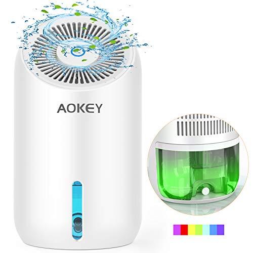 AOKEY Luftentfeuchter Elektrischer Entfeuchter Raumentfeuchter - 1000ml Leise Lufttrockner für Badezimmer Wohnung Schlafzimmer Keller