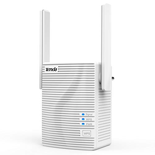 Tenda WiFi Extender (AC1200) - 5G Internet Booster 1200Mbps WiFi Repeater 2.4 & 5GHz Wireless Signal Booster Dual Band WiFi Extender with Ethernet Port, Simple Setup, Work with Any WiFi Router (A18)