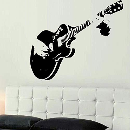 mlpnko Gitarrist Musik Ländlichen Stil Vinyl Wandaufkleber Dekoration Wohnzimmer Wandaufkleber Kunst 102x75 cm