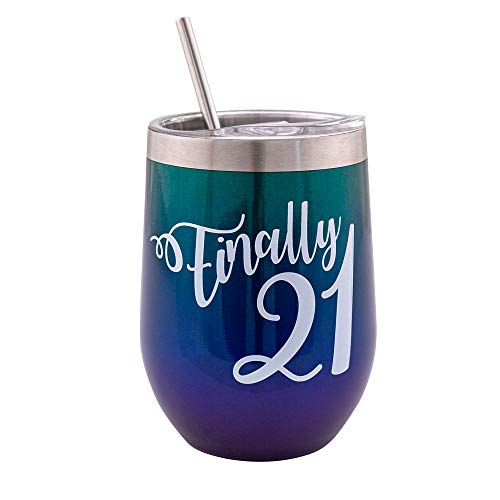 Verre Esprit Finally 21 Tumbler 12 Oz - 21st Birthday Gifts For...