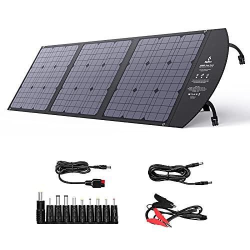 BigBlue ソーラーパネル 120Wソーラーチャージャー ソーラー充電器 折りたたみ 高効率ソーラーパネル 薄型 ...