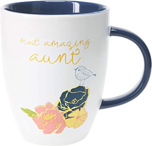 Pavilion Gift Company 20 Oz Large Coffee Mug Tea Cup Most Amazing Aunt, Blue