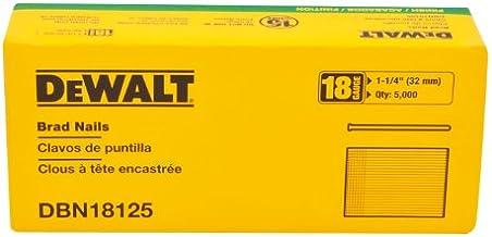 DEWALT Brad Nails, Heavy Duty, 18GA, 1-1/4-Inch, 5000-Pack (DBN18125)