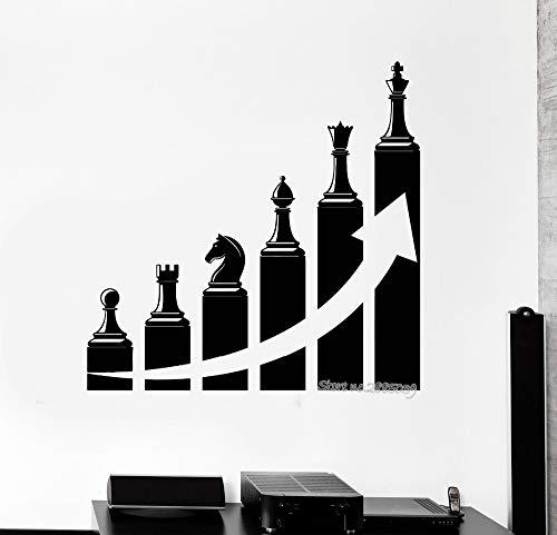 Baobaoshop Exitosa Carrera Escalera ajedrez Pegatina Vinilo Pared calcomanía decoración de la Oficina Arte Pared Tatuaje Sala de Estudio Color Personalizado Papel Pintado 42 * 43 cm Personalizado