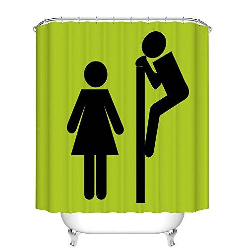 Fangkun Cartoon Toilet Funny Villain Design Curtains Shower Curtain – Polyester Bath Curtains Decor Sets – 12pcs Shower…
