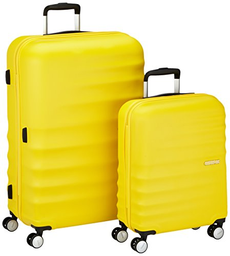 American Tourister Wavebreaker Set di Valigie 2 Pezzi, Sunny Yellow, 96 ml, 77 cm