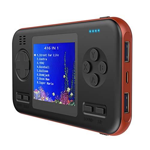 Mini Mobile Power Handheld Games Console, Nostalgische Classic Pocket Gameboy Met 8000Mah USB Opladen Schat Functie En Ingebouwde 416 Klassieke Retro Spellen