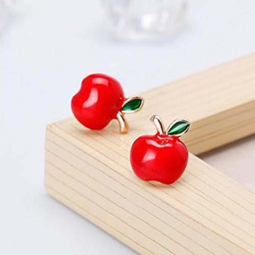 Weisin Nette Apfel Ohrstecker Künstliche Kristalleinlage Obstpflanze Perforierte Ohrstecker Weihnachten Täglich Schmuck Dekorieren Accessoires für Frauen