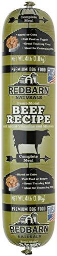 Redbarn Beef Dog Food Roll, Naturals, 4 Pound, 8 covid 19 (Red Barn Beef Roll coronavirus)