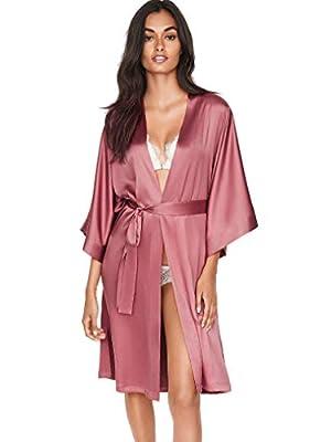 Victoria's Secret Satin Kimono Robe Pink Rose XS/S from