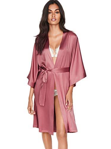 Victoria's Secret Satin Kimono Robe Pink Rose M/L