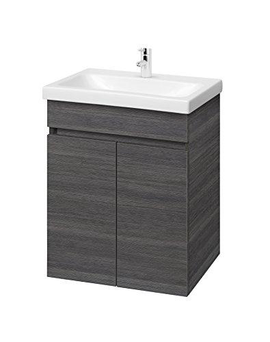 Planetmöbel Waschtisch Badmöbel Set 63cm für Badezimmer WC (Anthrazit)