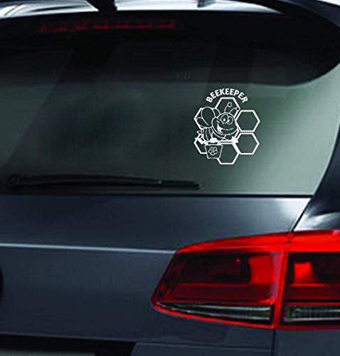 Aufkleber Auf Auto 15,2 cm x 17,7 cm Imker Bienen Imkerei Aufkleber Auto Aufkleber LKW Bauer niedlich für Auto Laptop Fenster Aufkleber