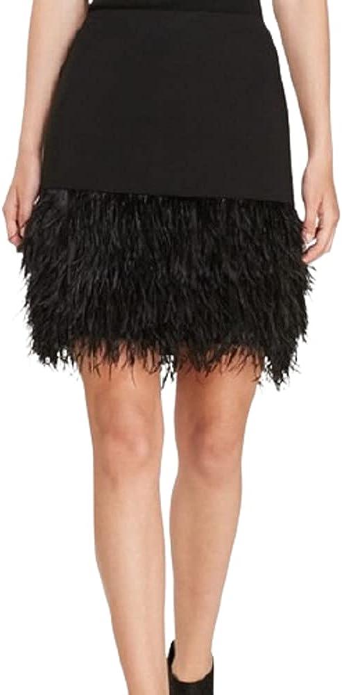 Polo Ralph Lauren Black Women's Hem Pencil Feather Max 55% OFF Skirt Ostrich El Paso Mall