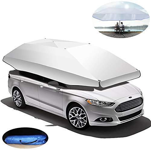 Tienda de campaña para coche plegable y portátil, para auto, con aislamiento de techo y toldo para evitar que el paraguas sea semiautomático, 350 x 190 cm