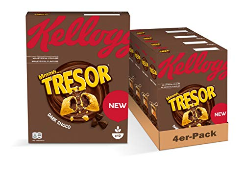 Kellogg's Kellogg's Tresor Dark Choco Frühstückscerealien, 4er Pack (4 x 375 g) 5100248001