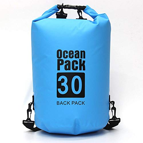 Waterproof Diving Bag Ocean Bag One-Shoulder Drifting Bag Outdoor Swimming Floating Bag Dry Bag 20L,Skye Blue 20 L